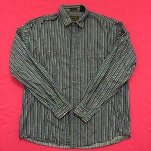 Vintage Eddie Bauer Striped Long Sleeve Button-Up